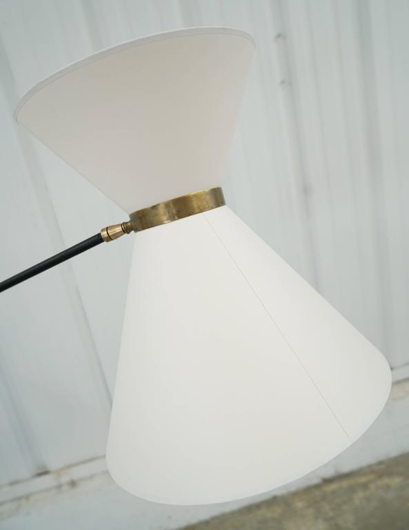 Iron Counterweight Floor Lamp With Brass Base And Weight