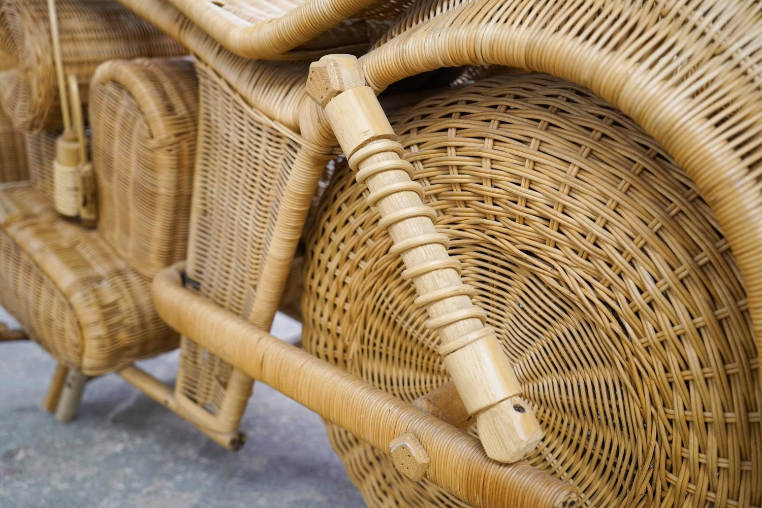 Vintage wicker motorcycle for sale at 1stdibs for Grand repos chair replica