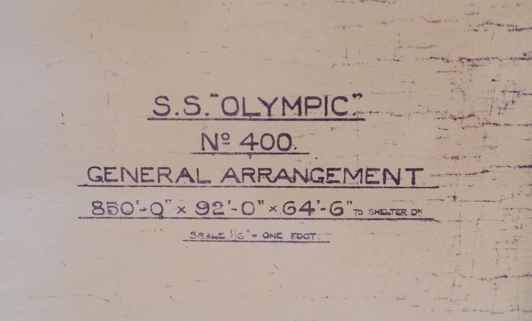 Original s s olympic blueprint with blue frame for sale at 1stdibs paper original s s olympic blueprint with blue frame for sale malvernweather