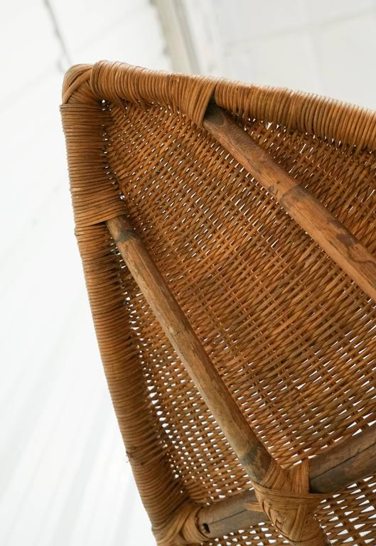 John Salterini Vintage Wicker Fish Chaise At 1stdibs