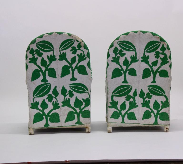 Pair of Vintage African Beaded Chairs 4