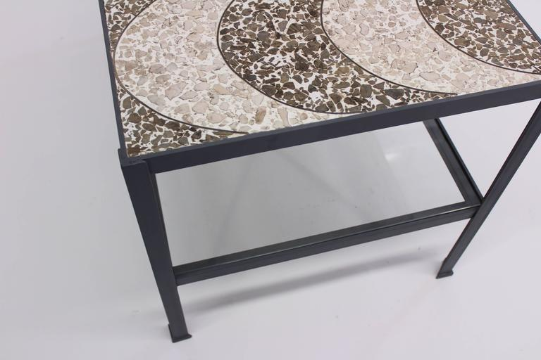 Metal Vintage Terrazzo Top Table With Refinished Base For Sale