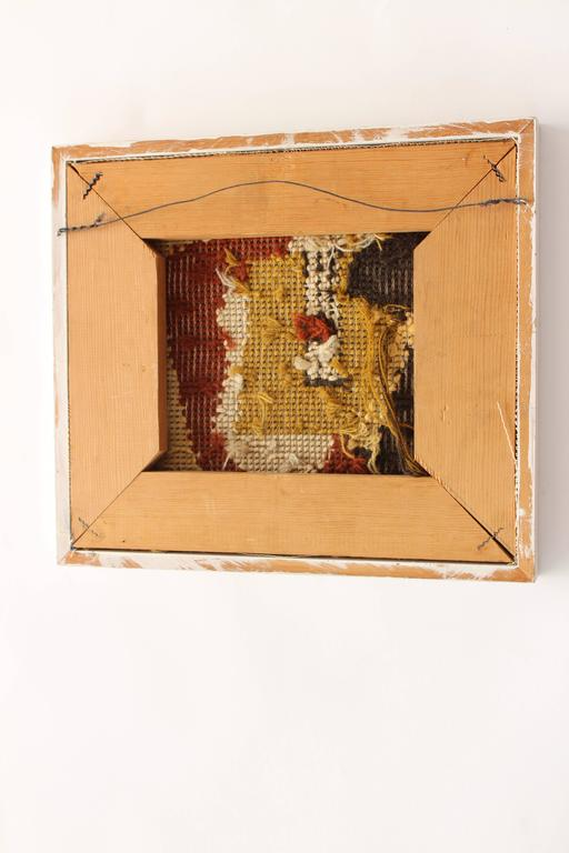 framed french 1940s needlepoint abstract art 2