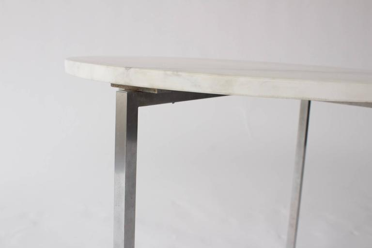 Late 20th Century Vintage Knoll Attributed Marble and Metal Side Table For Sale