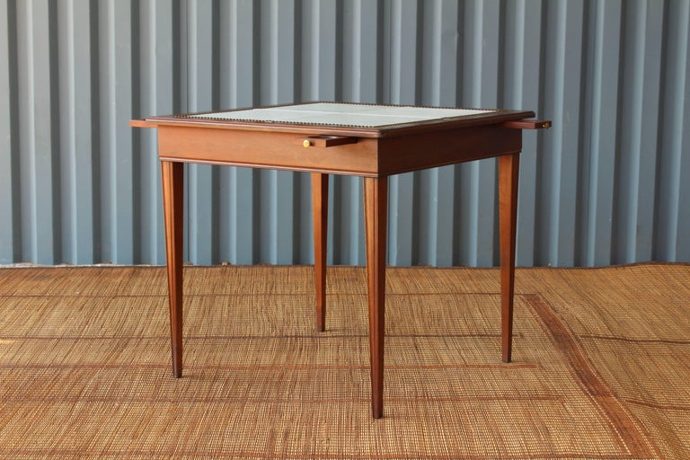 Top Table Cup Holders : Leather top game table and chairs at stdibs