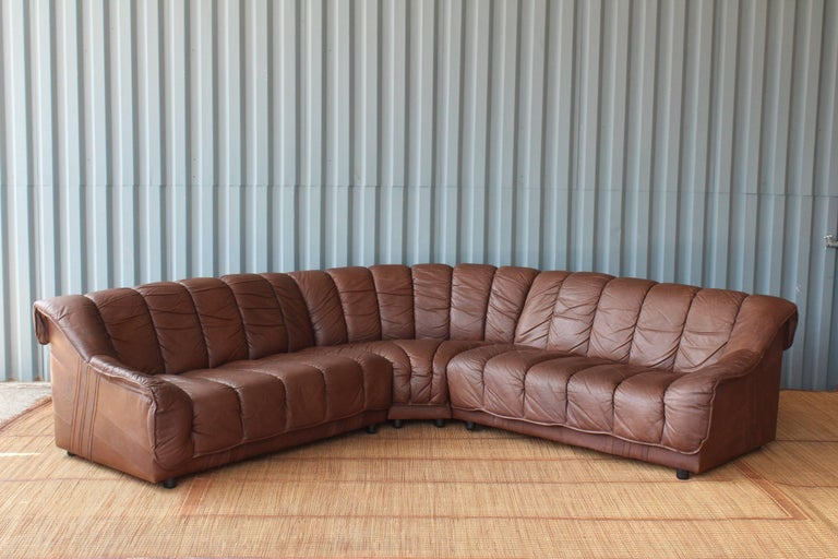 Prime 1970S Genuine Leather Sectional Sofa Bralicious Painted Fabric Chair Ideas Braliciousco