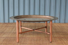 Antique Copper Tray Table