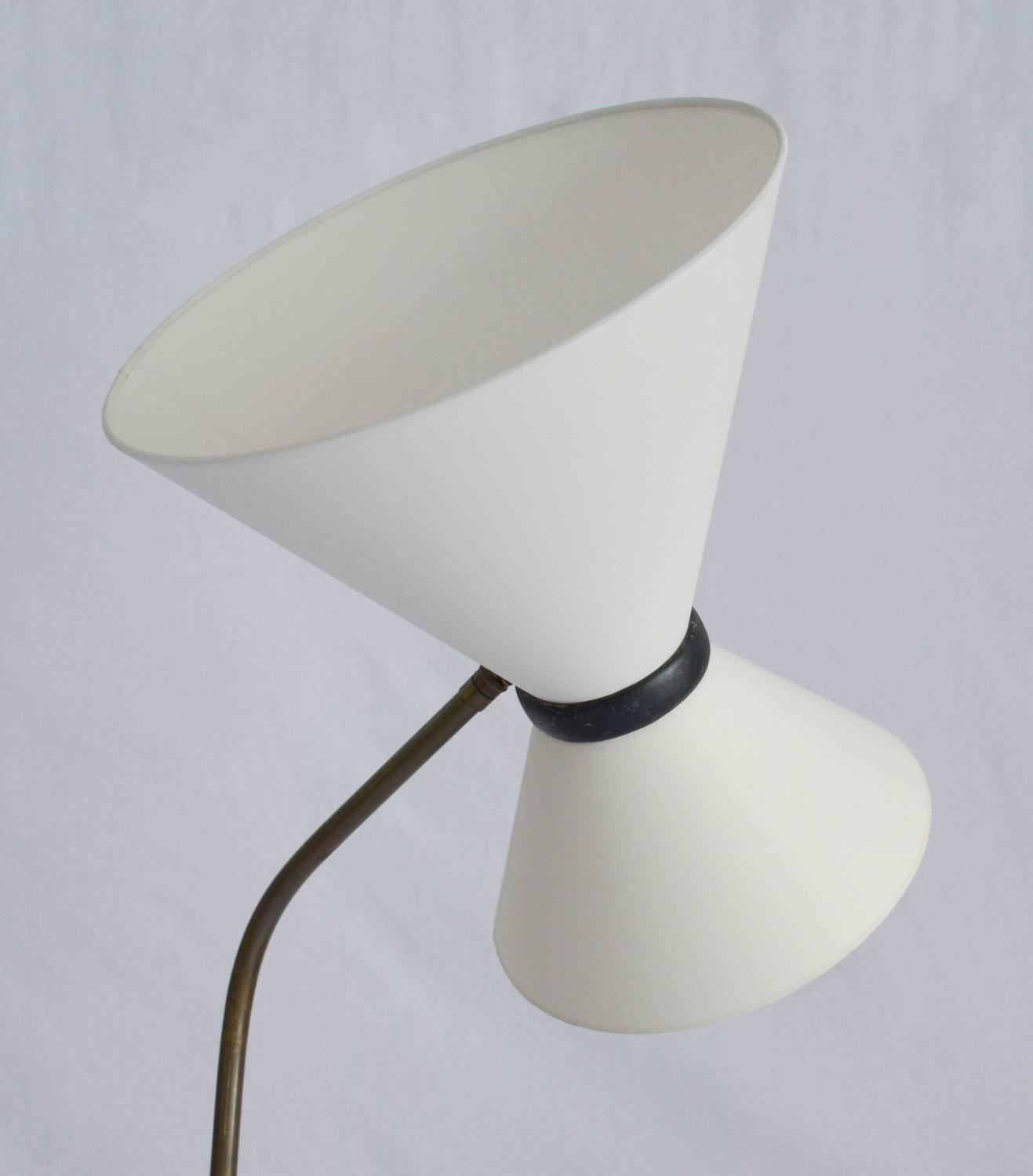 style brass floor lamp with ivory paper shade for sale at 1stdibs. Black Bedroom Furniture Sets. Home Design Ideas