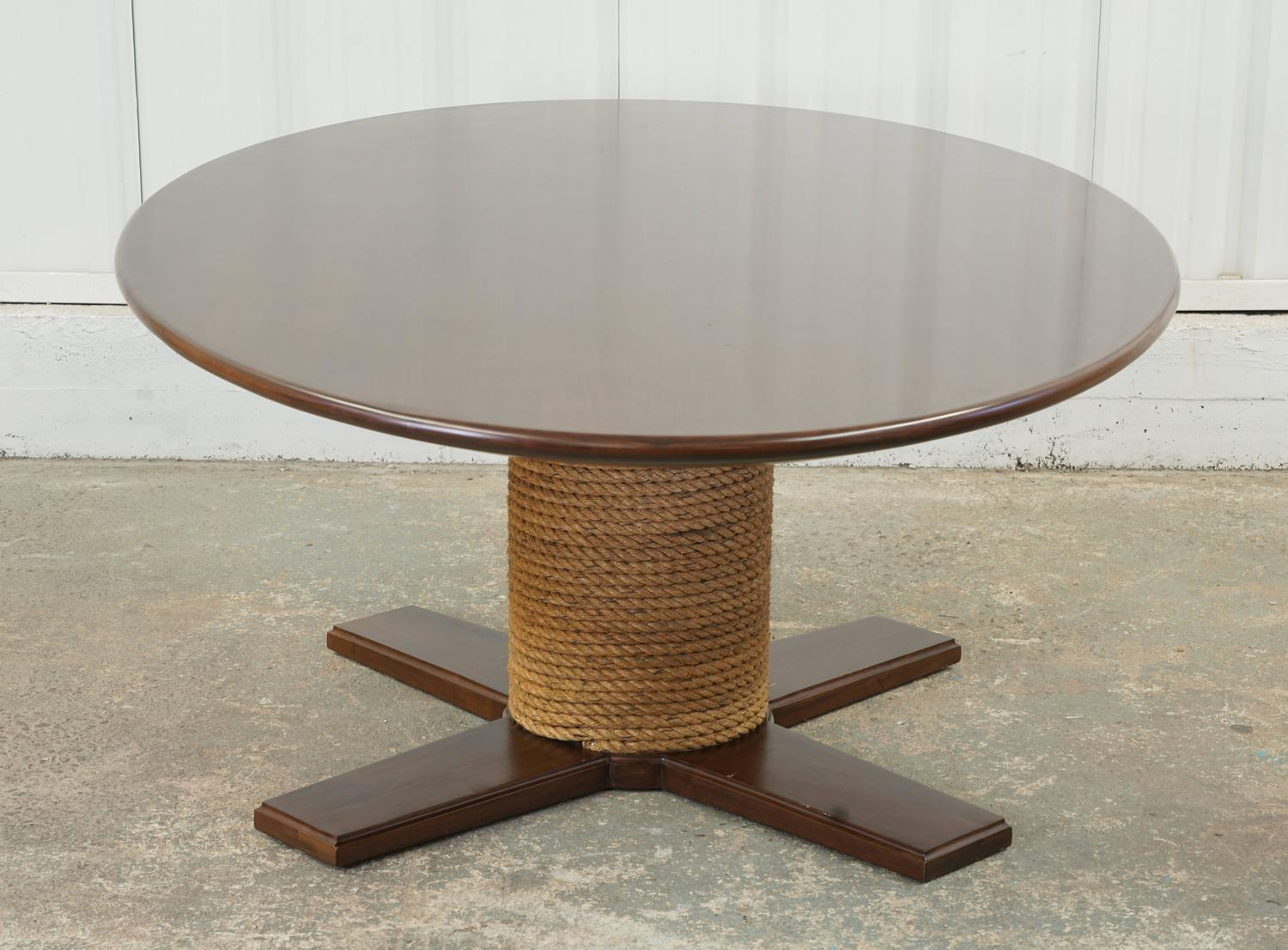 Large Rope And Wood Dining Table For Sale At 1stdibs