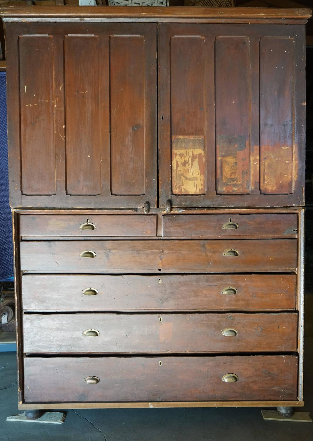 19th Century Welsh Train Station Cabinet For Sale At 1stdibs