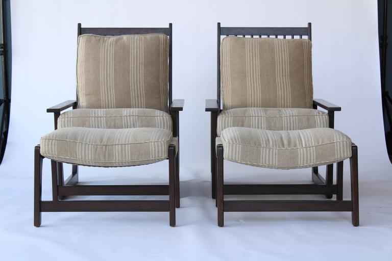Charles Webb Pair Of Reclining Armchairs And Ottomans 2