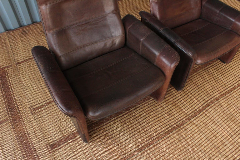 Pair of Leather DS-50 De Sede Reclining Chairs 7