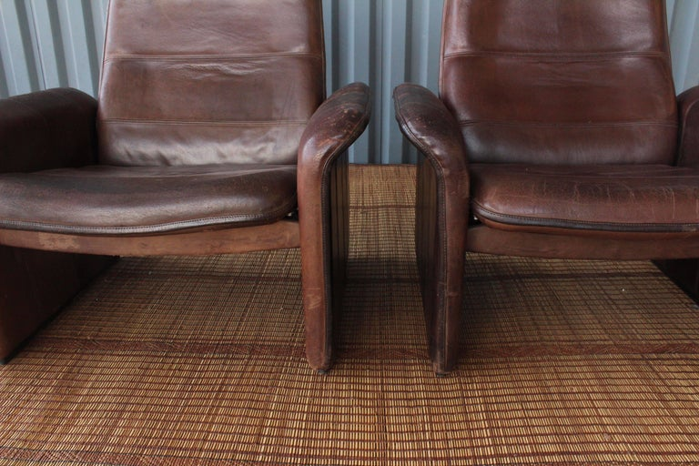 Pair of Leather DS-50 De Sede Reclining Chairs 8
