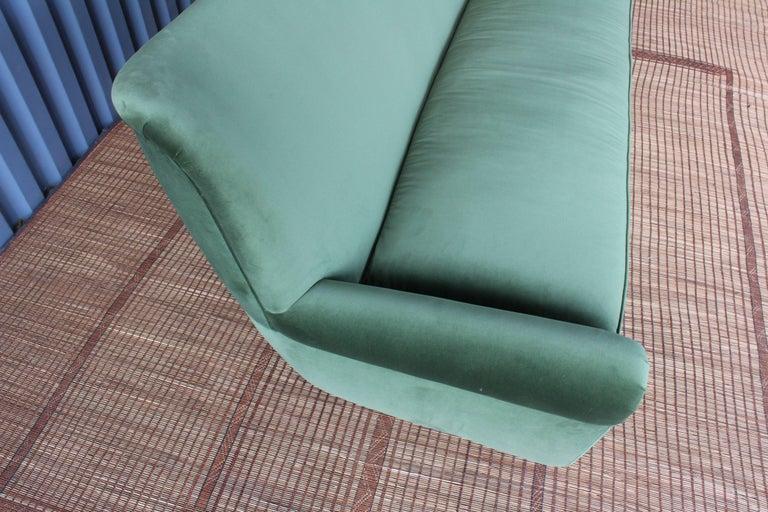 Mid-Century Modern 1950s Italian Wing Back Sofa For Sale