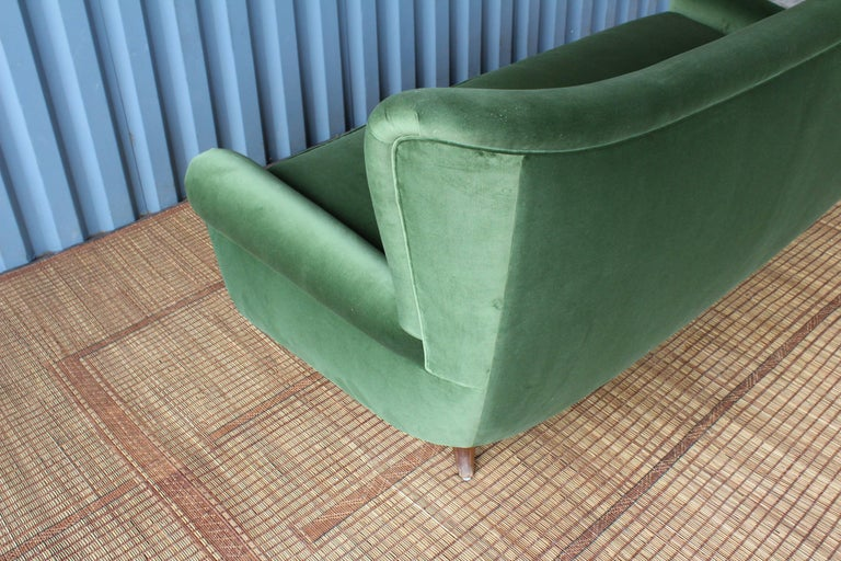 Mid-20th Century 1950s Italian Wing Back Sofa For Sale
