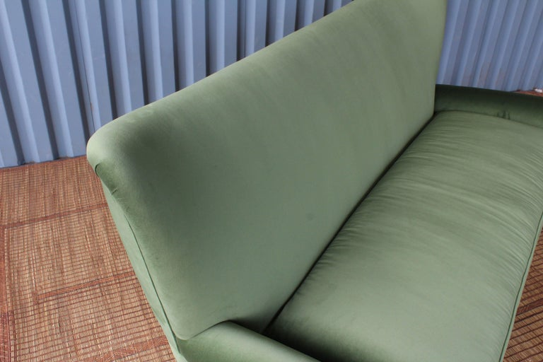 1950s Italian Wing Back Sofa For Sale 4