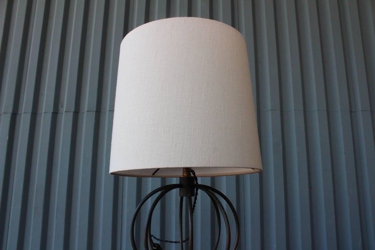 Vintage Iron Sphere Table Lamp At 1stdibs