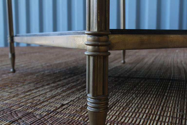 Solid Brass Two-Tiered Side Table For Sale 2