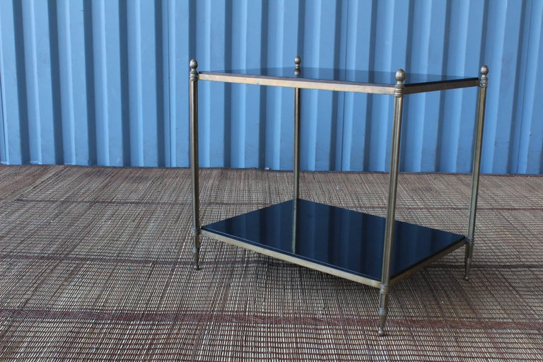 Solid Brass Two-Tiered Side Table For Sale 3