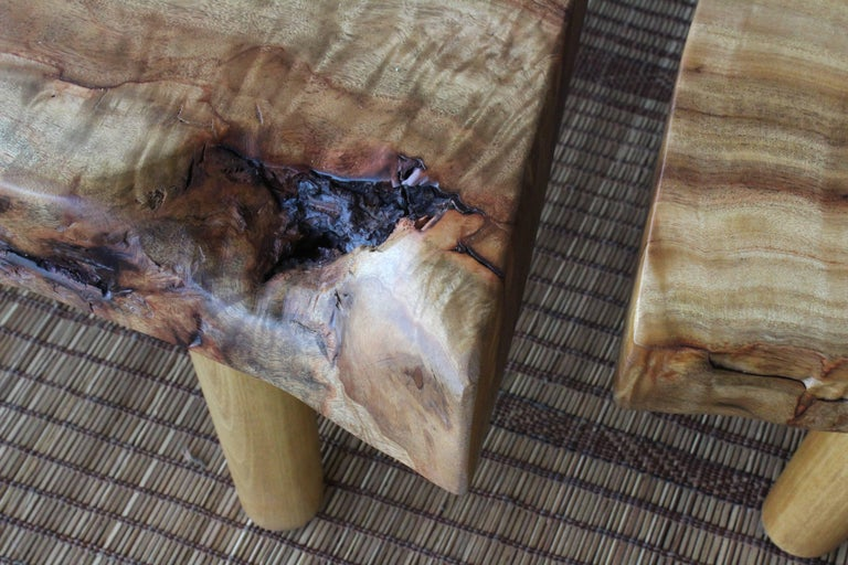 Live Edge Camphor Wood Coffee Tables For Sale 2