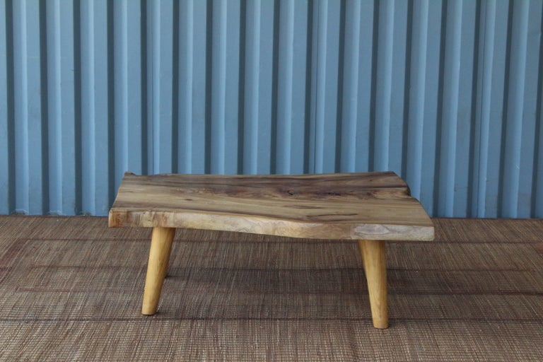 Live Edge Camphor Wood Coffee Tables In Excellent Condition For Sale In Los Angeles, CA