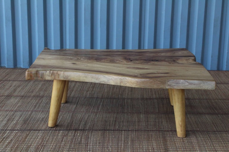 American Live Edge Camphor Wood Coffee Tables For Sale
