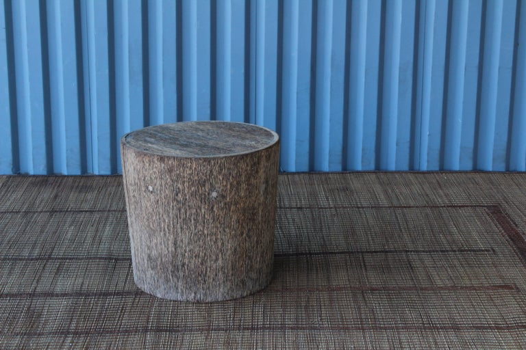 Vintage Indonesian Palm Wood Side Table In Good Condition For Sale In Los Angeles, CA