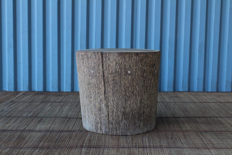 Vintage Indonesian Palm Wood Side Table For Sale 3