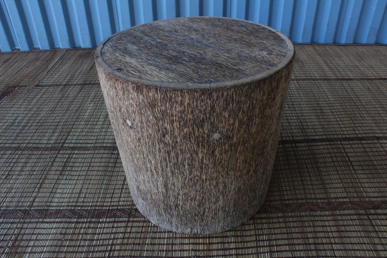 Palmwood Vintage Indonesian Palm Wood Side Table For Sale