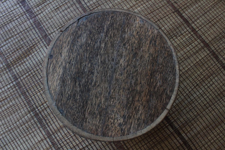 Mid-20th Century Vintage Indonesian Palm Wood Side Table For Sale