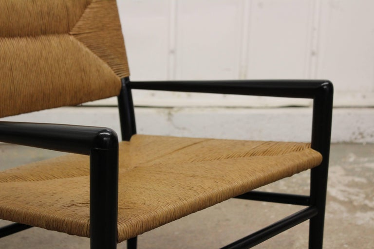 Woven Rush Armchair by Mel Smilow, 1950s For Sale 3