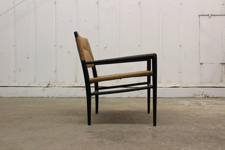 Woven Rush Armchair by Mel Smilow, 1950s For Sale 1