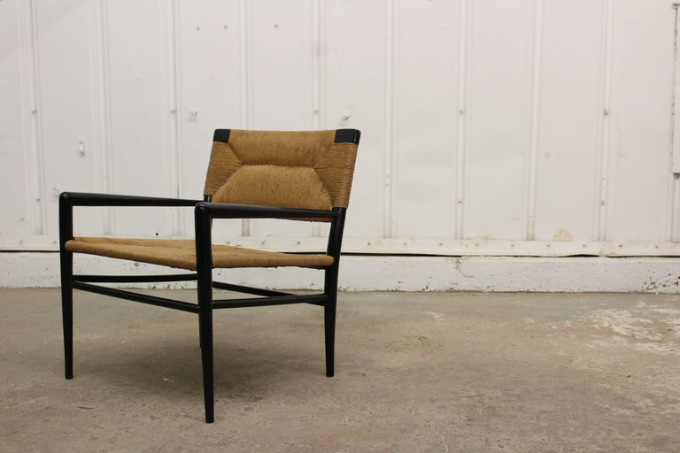American Woven Rush Armchair by Mel Smilow, 1950s For Sale