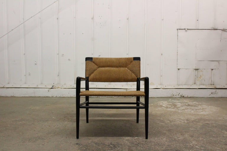 Mid-20th Century Woven Rush Armchair by Mel Smilow, 1950s For Sale