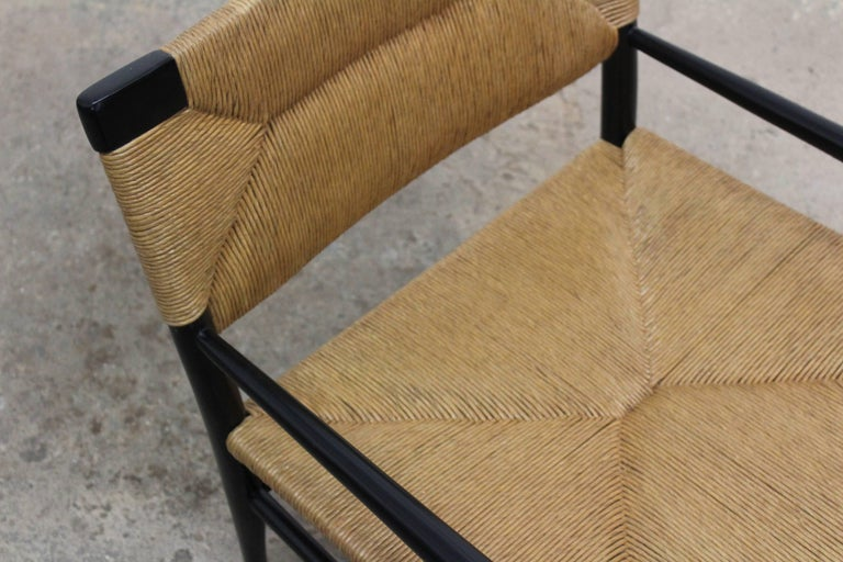 Woven Rush Armchair by Mel Smilow, 1950s For Sale 2