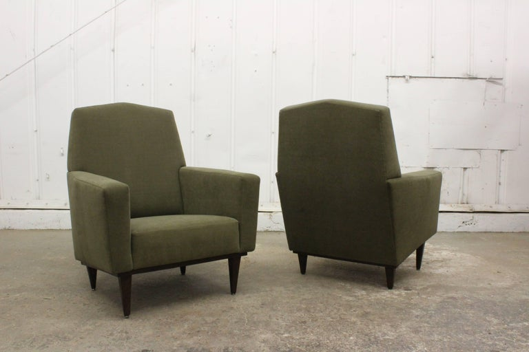 Pair of 1950s French Armchairs In Excellent Condition For Sale In Los Angeles, CA