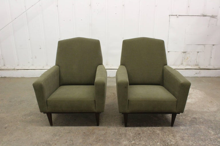 Mid-Century Modern Pair of 1950s French Armchairs For Sale