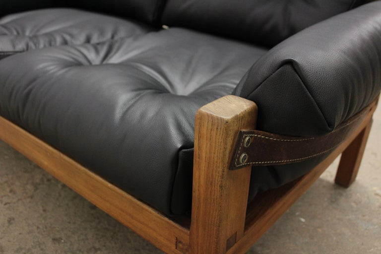 Pierre Chapo Loveseat in Solid Elm, France, 1960s For Sale 1