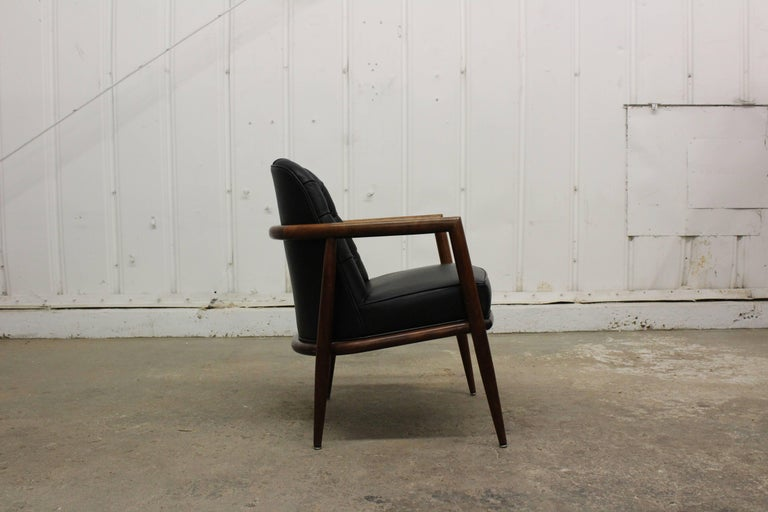 Leather Armchair by T.H. Robsjohn-Gibbings For Sale