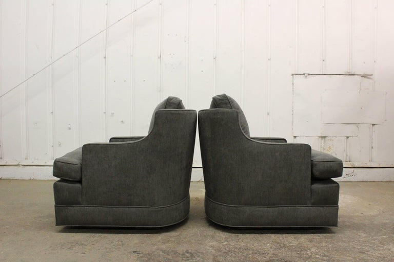 Pair of 1960s Club Chairs by Edward Wormley For Sale 3