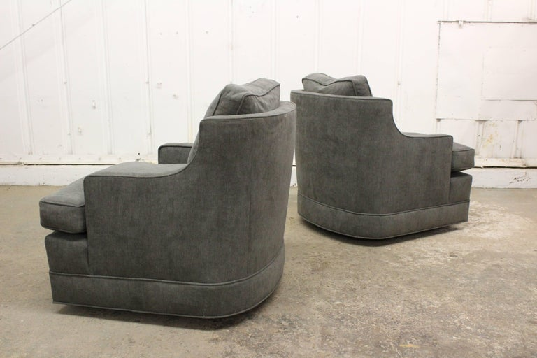 Pair of 1960s Club Chairs by Edward Wormley In Excellent Condition For Sale In Los Angeles, CA