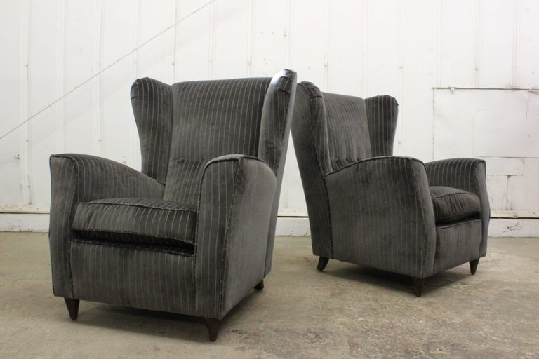 Mid-Century Modern Pair of Armchairs by Paolo Buffa, Italy, 1950s For Sale
