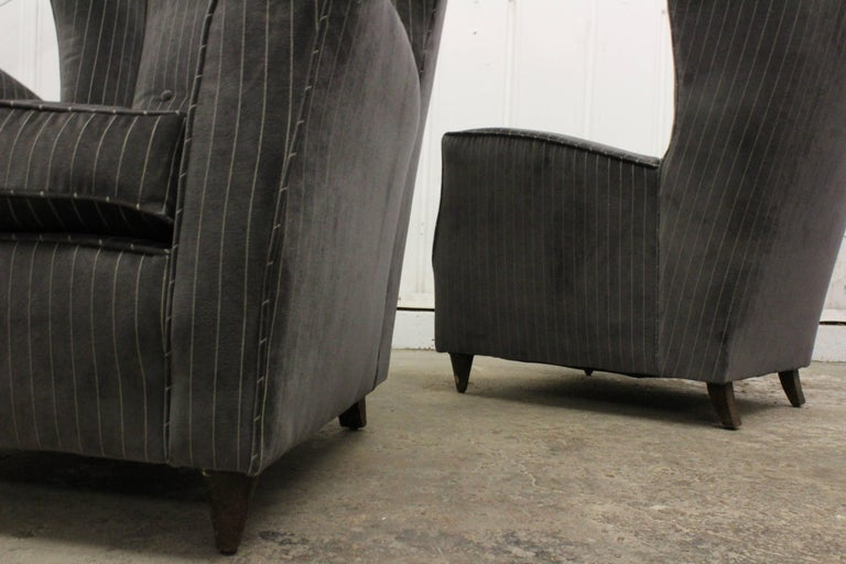 Italian Pair of Armchairs by Paolo Buffa, Italy, 1950s For Sale
