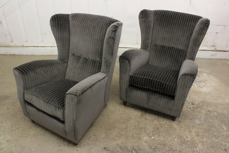 Mid-20th Century Pair of Armchairs by Paolo Buffa, Italy, 1950s For Sale