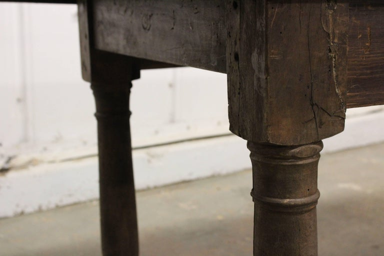 18th Century and Earlier 17th Century English Oak Refectory Table For Sale