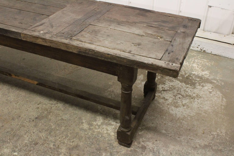 17th Century English Oak Refectory Table For Sale 2