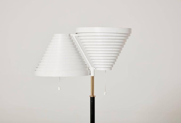 Mid-Century Modern Alvar Aalto A810 Floor Lamp, Valaisinpaja Oy, Finland For Sale
