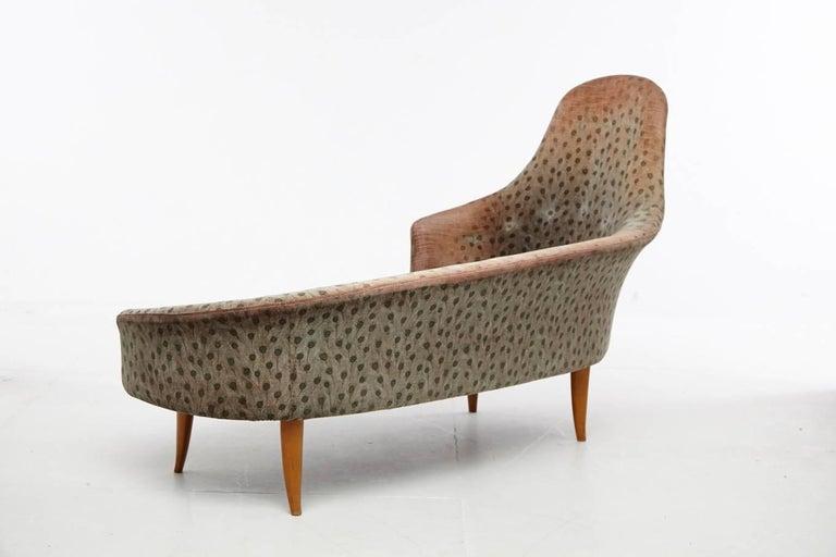 Scandinavian Modern Kerstin Horlin-Holmquist Garden of Eden / Lustgarden Chaise Longue, 1950s For Sale