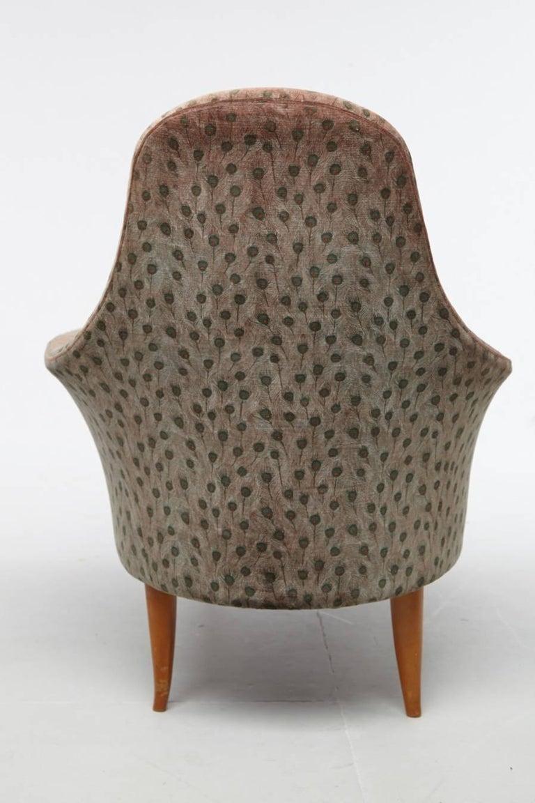 Fabric Kerstin Horlin-Holmquist Garden of Eden / Lustgarden Chaise Longue, 1950s For Sale