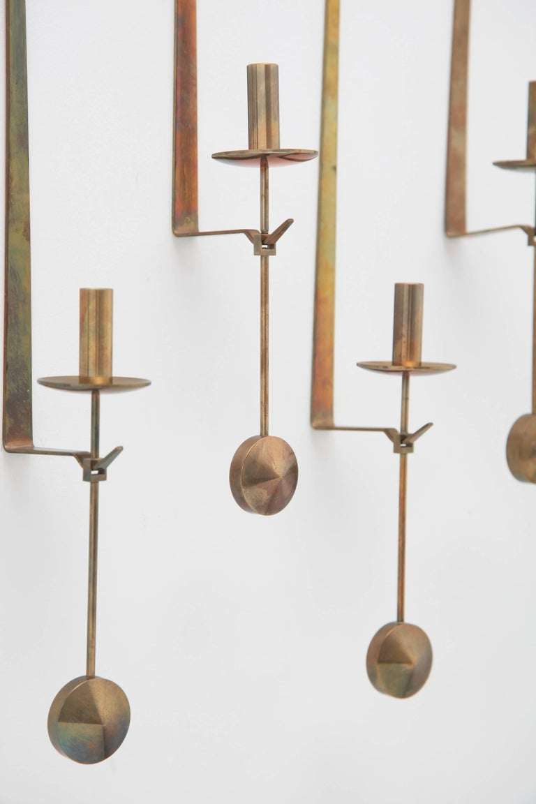 Wall Candleholders by Pierre Forssell, Skultuna, Sweden, 1950s In Good Condition For Sale In London, GB